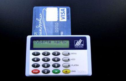 Tatra Banka, kártyaolvasó